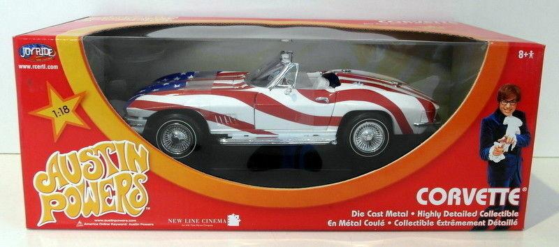 Ertl 1   18 skala druckguss - 33517 austin - powers - corvette  stars and stripes