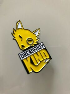 Dreadfully Kind yellow enamel cute fox pin with monocle