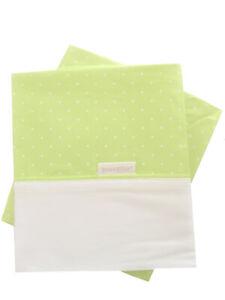 Kidz-Kiss-Petit-Dots-Bassinet-Cradle-2-Pieces-Sheet-Set-Green