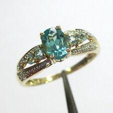 1521 - Aparter Ring aus Gelbgold 585 - Apatite und Diamanten - 2100