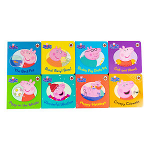 Details About Peppa Pig Picture 8 Board Books Collection Set Pack New