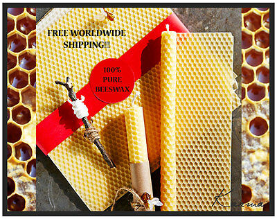 100% PURE Beeswax Candle Making Kit - Organic Beeswax Candles - Set of 4