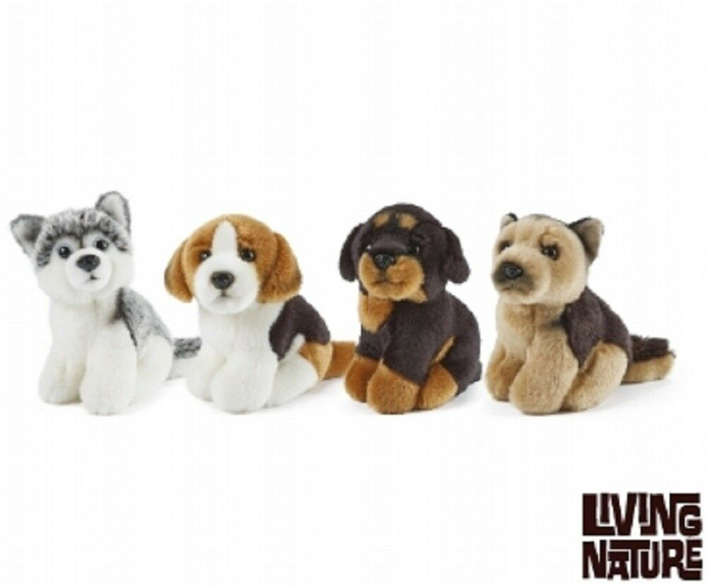LIVING NATURE MINIATURE DOGS ASSORTED - AN366 SOFT CUDDLY PLUSH FLUFFY TEDDY DOG