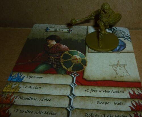 Zombicide Green Horde BILLY Kickstarter Exclusive Plastic Mini /& Card
