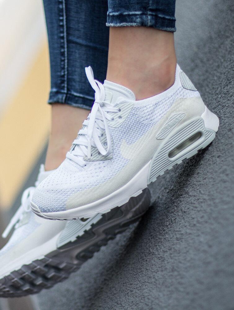 lowest price 9482d 21873 NIKE AIR AIR AIR MAX 90 ULTRA 2.0 FLYKNIT chaussures femmes sport Basket  881109-104 b7381d