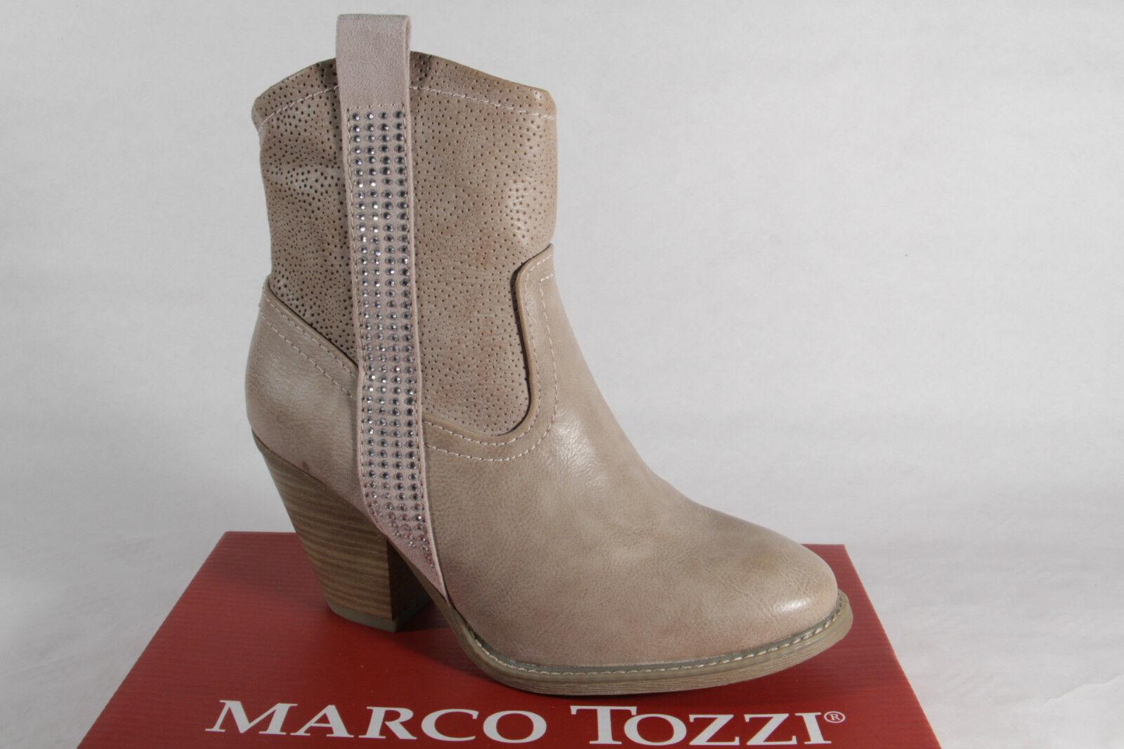 MARCO TOZZI Bottes, bottines, bottes simili-cuir beige, fermeture éclair NEUF