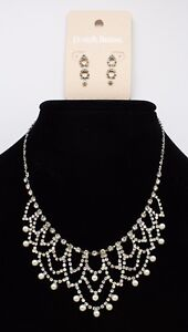New Bridal Party Rhinestone Necklace Earring Set From David's Bridal #n2639 Jewelry & Watches