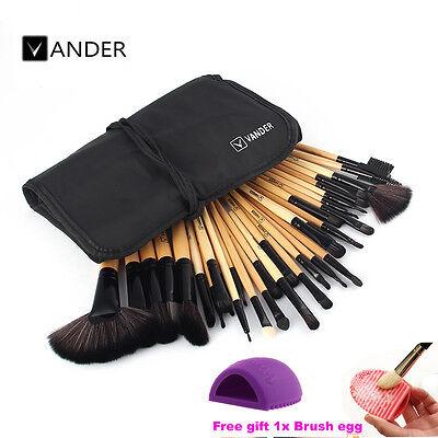 32pcs Fashion Professional Beauty Makeup Brushes Kit Set + Bag+ Make Brush Egg