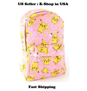27f62c693c36 Image is loading Kids-Pokemon-Pikachu-Character-School-Bag-Backpack-Pink