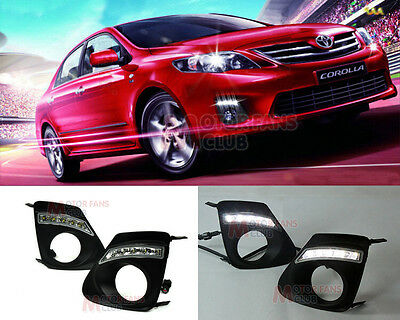LED Daytime Running Light For Toyota Corolla Altis Fog DRL 2010 2011 2012 2013