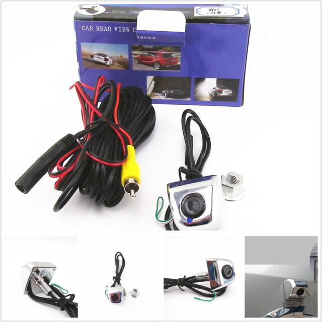 Chrome DC12V 170° License Screw Car SUV Reverse Parking Camera Support NTSC/PAL