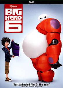 Big-Hero-6-DVD-2015-New-amp-Sealed-w-Slipcover-FREE-Shipping