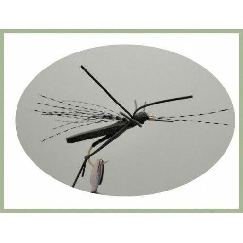 Size 8 Foam Bug Trout or Carp Flies 4 Pack Black Foam Bug Fishing Flies
