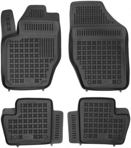 4-teilige schwarze Gummifußmatte für CITROEN DS4 Schrägheck Bj 2011-2015