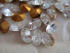 003 - Vintage Swarovski Crystal Oval Rhinestones - 10x8mm - Orig. Pack - 36 pcs.