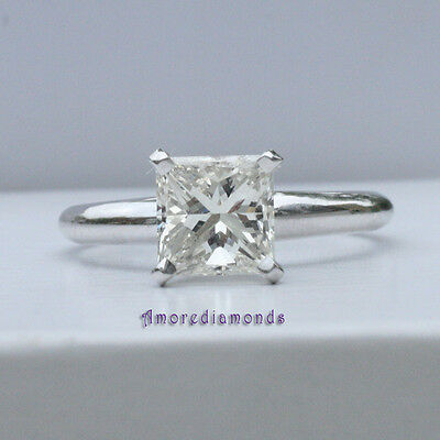 Design; In 1.00 Ct I Vs Egl Eeuu Natural Princesa Anillo Solitario Diamante De Compromiso Novel