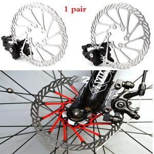2pcs Bike Front Rear Caliper Mechanical Disc Brake Cycling Bicycle