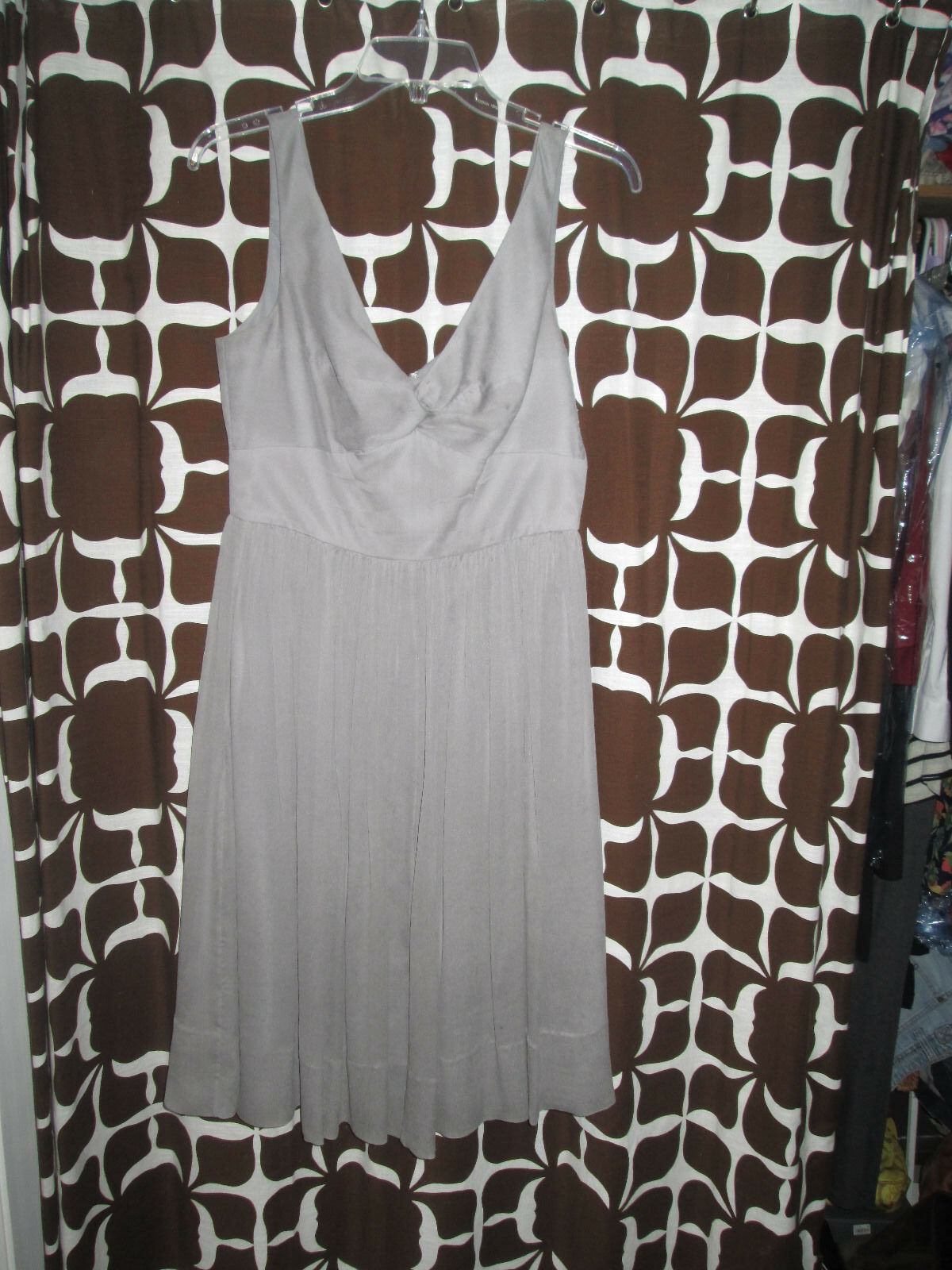JCREW Size 8 Grey Bridesmaid Dress
