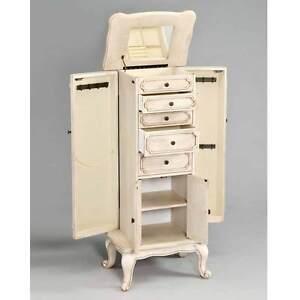 Lief Jewelry Armoire Storage Drawers Cabinet Door Flip