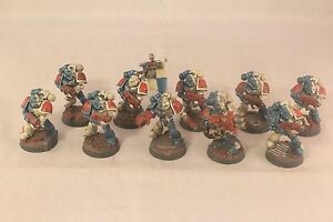 Warhammer-Space-Marine-Tactical-Marines-Well-Painted