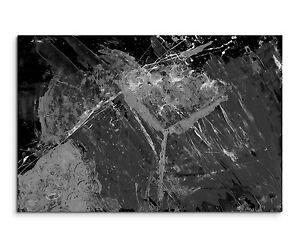Leinwandbild abstrakt schwarz grau wei paul sinus abstrakt 688 120x80cm ebay - Leinwandbild grau ...