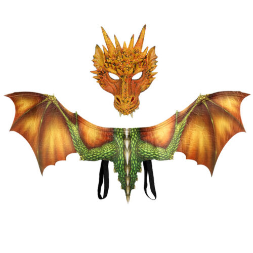 Carnival Party Thrones Costume Dragon Cosplay Masquerade Face Mask /& Wings