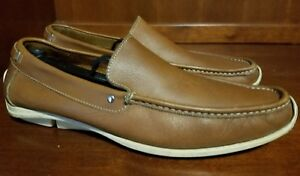 85cb26fafe6 Coach Men DAVIN Brown Driving Shoes Size 9.5 D   Italy Made