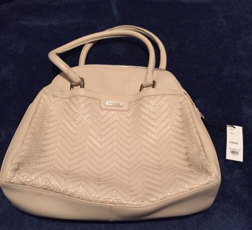 BNWT Episode 100% Leather Ivory Coloured Bag 195