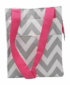 Red White Blue DIamonds 9 In Small Reusable Zippered Top Insulated Lunch Bag