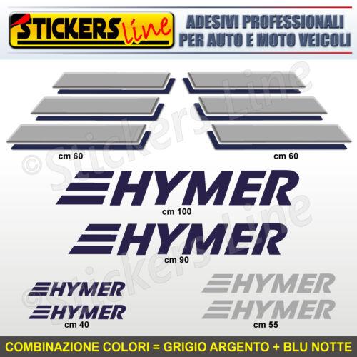 Komplett-Set 8 Aufkleber Camper Hymer Logos m.5 Stickers Wohnwagen Abziehbild
