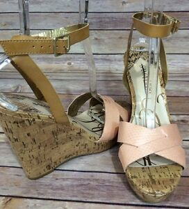 c117e82aa146 Sam   Libby For Target Strappy Wedge Platform Heels Peachy Pink 10 ...