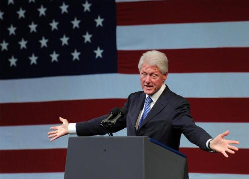 BILL CLINTON GLOSSY POSTER PICTURE PHOTO president flag hanging wall decor 503