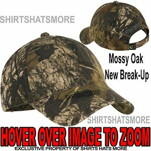 Garment Washed Camo Baseball Cap Hunting Hat Camouflage Mossy Oak New Break-Up