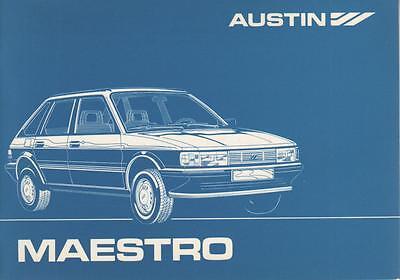 2019 Mode Austin Rover Maestro Betriebsanleitung 1983 Bedienungsanleitung Handbuch Ba QualitäT Zuerst