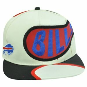 fc77f5330 Details about SNAPBACK HAT CAP NFL BUFFALO BILLS OLD SCHOOL VINTAGE  DEADSTOCK OFF WHITE FLAT