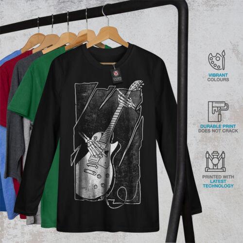 Skull Music Bass Guitar Men Long Sleeve T-shirt NEWWellcoda