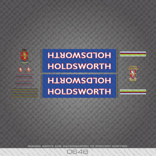 Decals 0648 Holdsworth Professional Bicycle Stickers Transfers