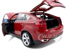 2011 2012 BMW X6 M X6M DARK RED 1/18 DIECAST MODEL CAR BY BBURAGO 12081