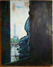 FREDDY WITTOP Designer w/ ERTE, LISTED RARE PARIS OIL LANDSCAPE MODERNISM MODERN