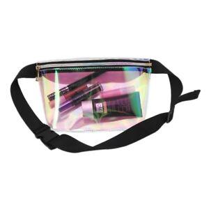 f2a44b1f578b Details about Women Men PVC Waist Chest Bag Laser Purse Waterproof Fashion  Belt Fanny Pack