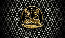 Massa Carta Mundi Premium Linen Black/Gold Casino Poker Size Playing Cards Deck!