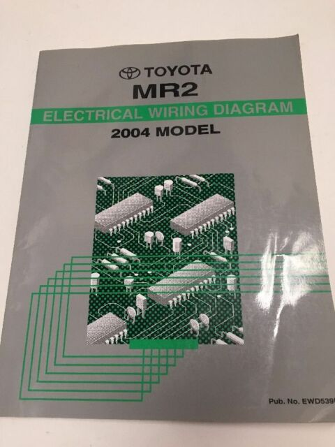 2004 Toyota Mr2 Oem Factory Electrical Wiring Diagram Book