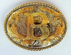 Initial Letter B Belt Buckle Western Rodeo Cowboy hebilla de cinturón inicial