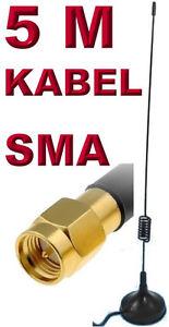10dB-WLAN-Antenne-5m-SMA-Male-fuer-IP-Kamera-Foscam-Apexis-Instar-7Links-Elro