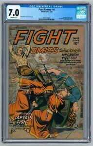 Fight Comics #44 CGC 7.0 (Jun 1946, Fiction House) Classic Bondage Torture Cover