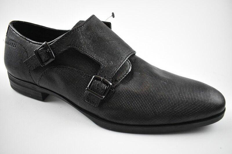 Bugatti Herren Herren Herren Business-Schuh Schwarz Leder in der Gr. 42 0a2c82