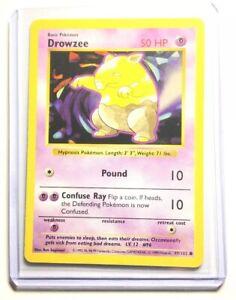 49//102 NM Drowzee 1999 Shadowless Base Set Unlimited Common Pokemon Card
