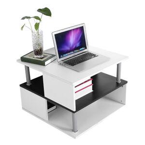 Wohnzimmertisch-Couchtisch-Beistelltisch-Ablage-PC-Tisch-60x60x45cm-2-Schicht-SU