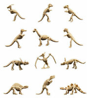 12 Skeleton Dinosaurs Birthday Party Stocking Stuffer Cake Toppers Bulk Usa Ship