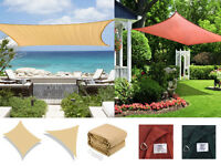 Sun Shade Sail Uv Top Cover Outdoor Canopy Patio Triangle Square Rectangle W/bag